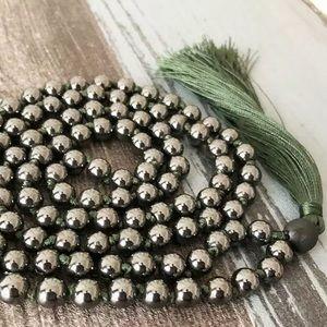 Genuine Hemetite gemstone Mala 108 Prayer beads
